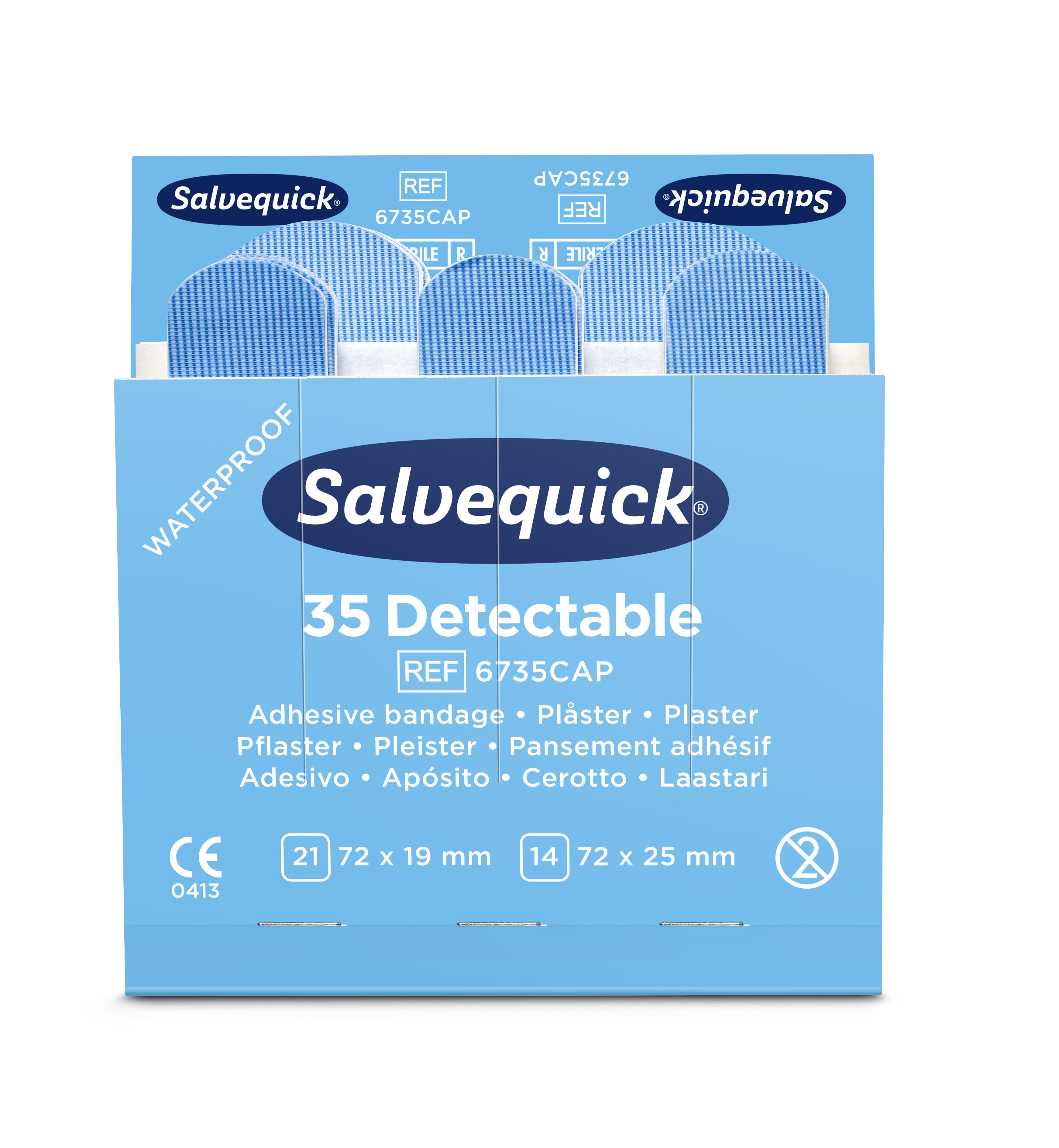 6735CAP-Salvequick-Blue-Detectable-Plaster-Front