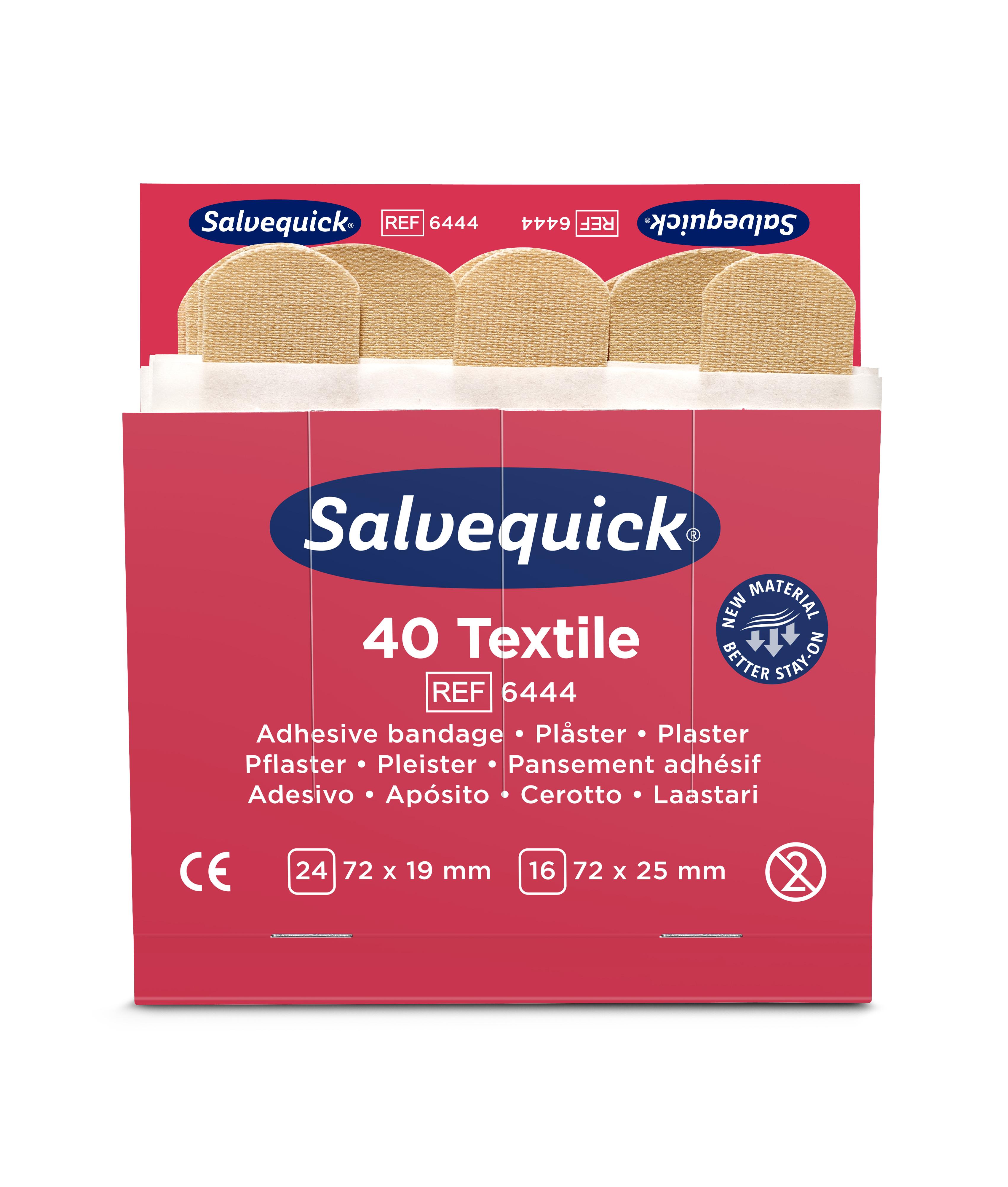 6444-Salvequick-Textile-Plaster-Front
