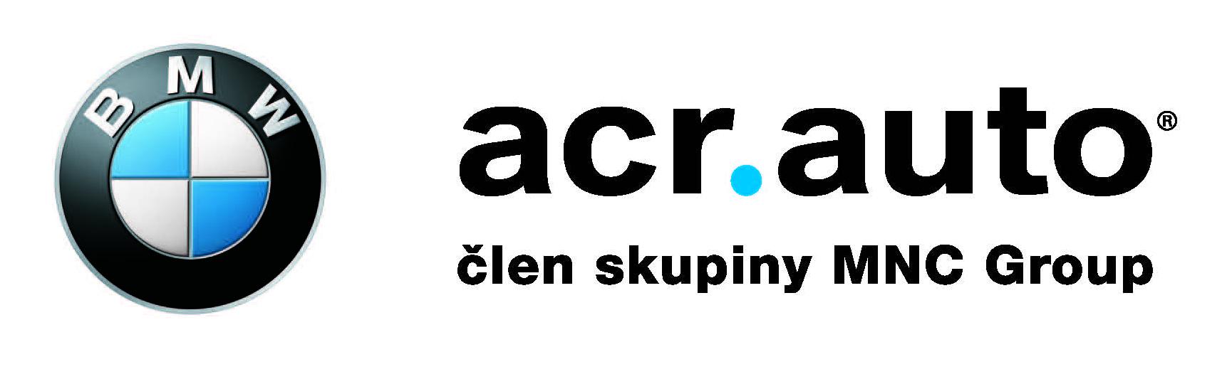 ACR logo s MNC Group jen napis a BMW tucne